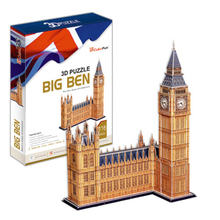 Development of intelligence,Educational toys,good quality,foam,emulational,gifts,paper model,famous building,Big Ben,3D PUZZLE