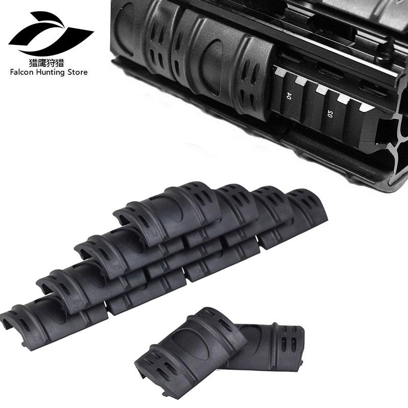 12Pc Rifle Weaver Picatinny Hand Guard Quad Rail Covers Rubber Tactical Black