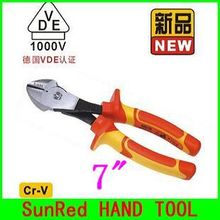 "BESTIR TAIWAN ORIGINAL VDE Cr-V steel insulated pressure resistant 7"" BIG Head Diagonal Cutter electrical tools,NO.10292"
