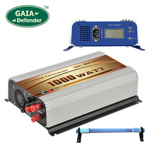1000W LCD display Wind Power Grid Tie Inverter with Dump Load Controller Resistor for 3 Phase wind turbine(China)