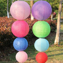 AJP vintage hollow out mulit color option 8 inch 20cm Round Chinese Paper Lantern Birthday Wedding Party decor gift craft DIY