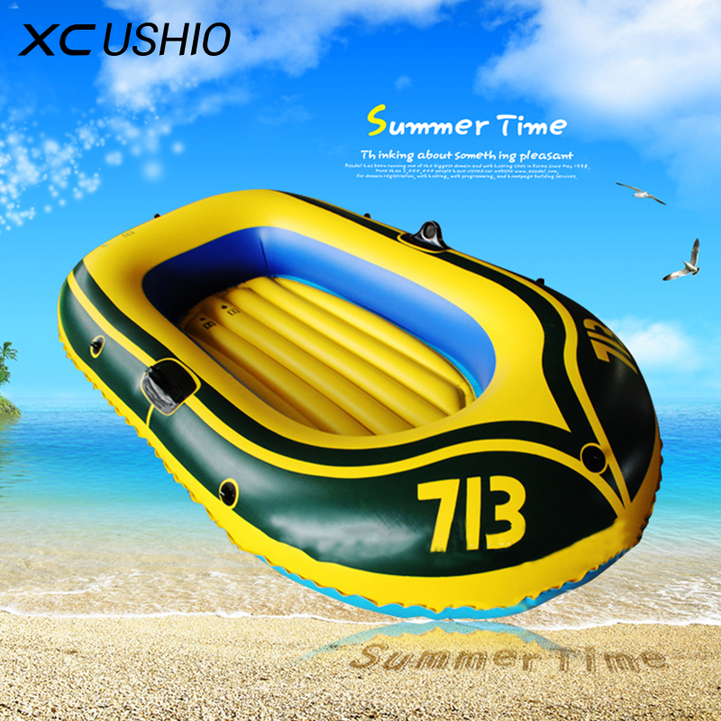 1 Set 2 Person PVC Rubber Boat for River Stream Lake Fishing Inflatable Boat 175x115cm with Paddles Pump Patching Kit and Rope(China (Mainland))