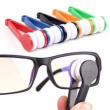 10 pcs New Arrival hot sales Useful Nice Mini Sun Glasses Eyeglass Colorful Microfiber Cleaner Brush