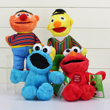 "4pcs/lot 9""23cm Sesame Street Elmo Cookie Ernie Bert Stuffed Plush Doll Soft Toys For Children Free Shipping(China)"