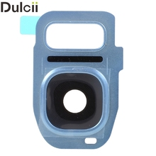 Dulcii for Galaxy S 7 Replacement Parts OEM Replacement Camera Lens Ring Cover for Samsung Galaxy S7 G930 / S7 edge G935 - Blue(China)