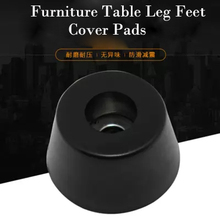 8Pcs Durable Black Rubber Chair Protector Non-slip Cabinet Furniture Table Leg Feet Cover Pads piedini mobili(China)