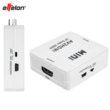 Effelon mini RCACVS 3 RCA Composite Video AV to HDMI Converter for TV/PC/PS3/Blue-Ray DVD(China)