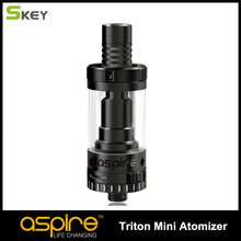 Three colors Available Vaporizer Brand Aspire Triton Mini Atomizer With 2 ML Capacity Pyrex Glass Tank and Replaceable coil