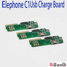 New Original usb plug charge board For Elephone C1 Mobile Phone Flex Cables charging module Microphone cell phone Mini USB Port(China)