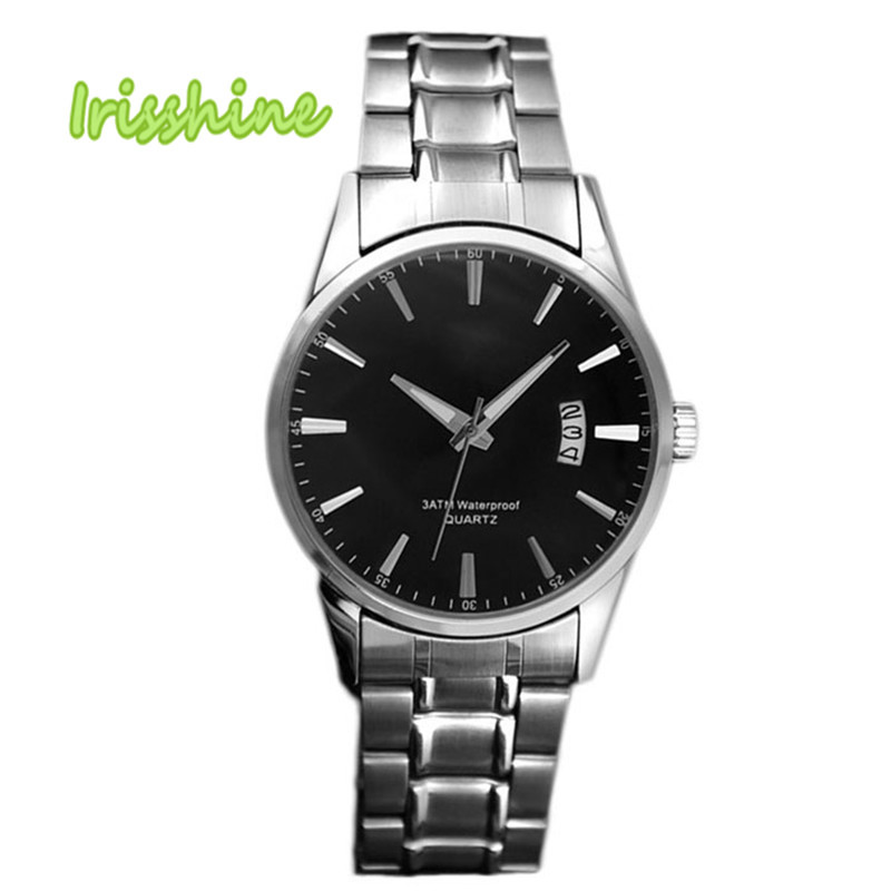 Irisshine i0596 Hot! Fashion Sliver Stainless Steel Band Date Analog Quartz Sport Mens Wrist Watch men watches Gift<br><br>Aliexpress