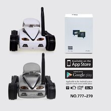 Children Adult WiFi Rc Mini Tank Car ISpy with Video 0.3MP Camera 777-270 Remote Robot with 4CH Suppots By Mobile phone Apps(China)