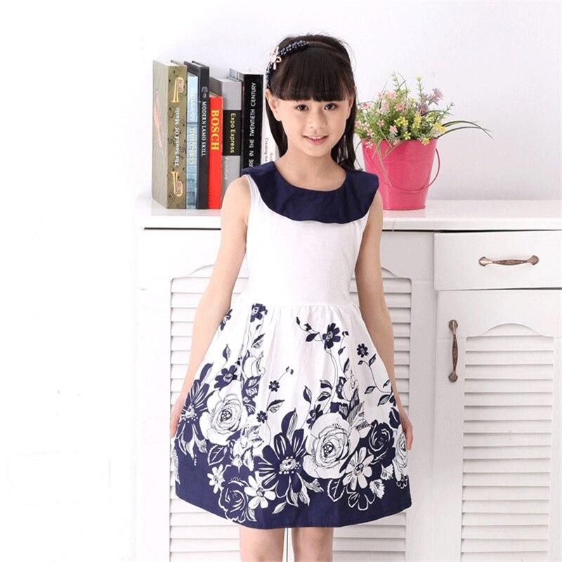 Girls summer dresses, Fashion Print girls Dress, girls summer sleeveless A-Line dress<br><br>Aliexpress