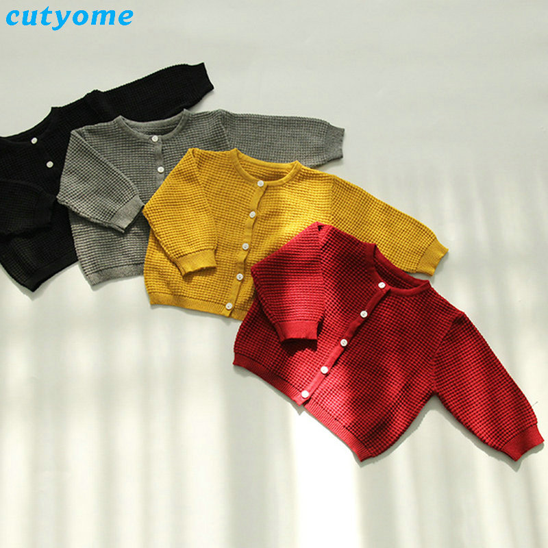 Cutyome Baby Boys Girls Cardigan Sweater Cotton Candy Color Long Sleeve Newborn Boys Clothes For Infant Knitted Outwear Sweaters (10)