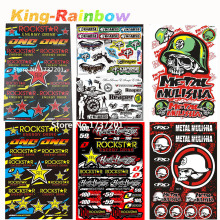 Big Size 45cm x 30cm Rockstar Skull Stickers For Motorcycle BIKE CAR UNIT SCOOTER FUNNY DECALS STICKERS PVC Waterproof