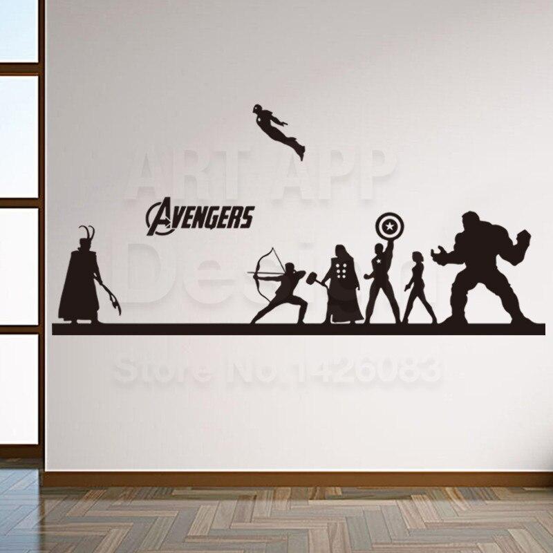 Art New Design Home Decoration Vinyl Cheap Avengers Hulk Wall Sticker  Removable House Decoration Iron Man Part 83