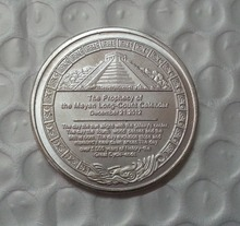 Mayan 2012 Prophecy silver Coin Free Shipping(China)