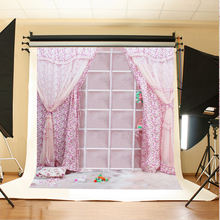 Wedding Photo Backdrops Pink Curtains Birthday Photo Background White Cupboard Teddy Bear Wedding  Backgrounds for Photography