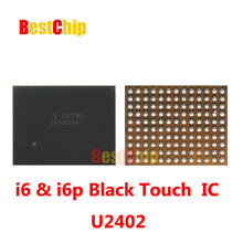 10pcs/lot 100% Original new for Iphone 6 6+ 6plus U2402 touch screen controller driver IC chip black color(China)