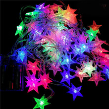 LED string lights battery 4M 40 LED STAR Shaped outdoor holiday lighting Theme Garland Christmas Xmas Decoration Wedding party