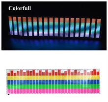 New 90*25 CM Colourful Music Rhythm Pattern Car Sticker EL Sheet Music Equalizer Car Windshield Sticker Sound Activated Light
