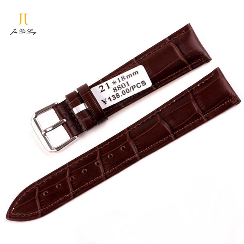 Brand Genuine Cow leather Watch Strap Casual Black Coffee Watch Bands 18mm/20mm/22m for options<br><br>Aliexpress