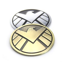 Universal The Avengers Marvel's Agents of S.H.I.E.L.D. Logo Emblem Car Body Metal Sticker Styling Kits For Chevrolet#7322-7323