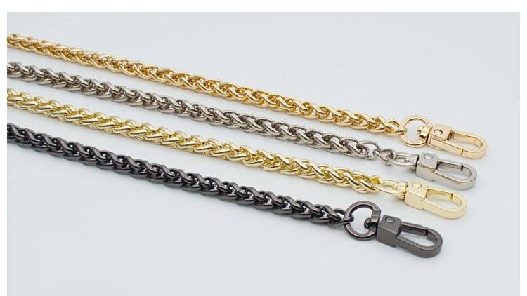 woman fashion bags accessory chain fashion new wallet accessroies chain handbag Solid Chain handle shoulder bag strap (2)