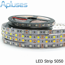 Buy 5050 LED Strip 12V Flexible Decoration Lighting 300LED Non-Waterproof LED Tape RGB/White/Warm White/Blue/Green/Red 5m/Lot for $3.87 in AliExpress store