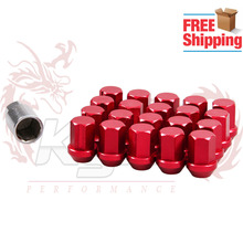 Free Shipping 20pcs 35mm Aluminum Wheel Nuts Race Lock Lug Nuts 12x1.5/12x1.25 Acorn RIM FORGED(China)