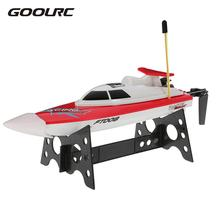 Remote Control Ship RC Boats Model FT008 27MHZ 14km/h High Speed Radio Control Electronic RC Boat US EU Flywheel Kids Toy Gift(China)