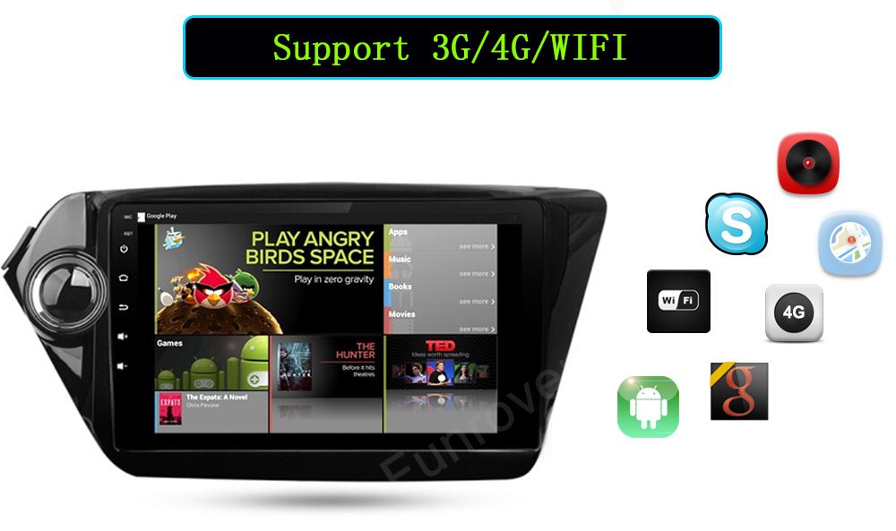 Android 6.0 car dvd player GPS navigation 2 din car stereo 9 inch 1024600 for Kia k2 RIO 2012 2013 2014 2015 2016