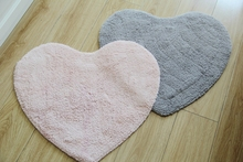 Modern Comfortable Heart Shape Fresh Cotton Carpet Absorbent Kitchen Mat Door Bathroom Floor Mats(China)