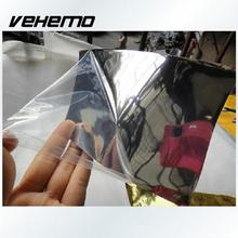 "Vehemo 2017 Car-styling 6""x60"" Car Auto Mirror Chrome Sticker Wrapping Sticker Decal Silver Gloss Foil Vinyl Wrap Film Sheet"