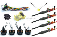 Mini CC3D Atom Flight Controller + 4 X BLHeli 12A ESC + 2204 2300KV Motor for FPV Mini RC Quadcopter QAV210 QAV250 Robocat 270