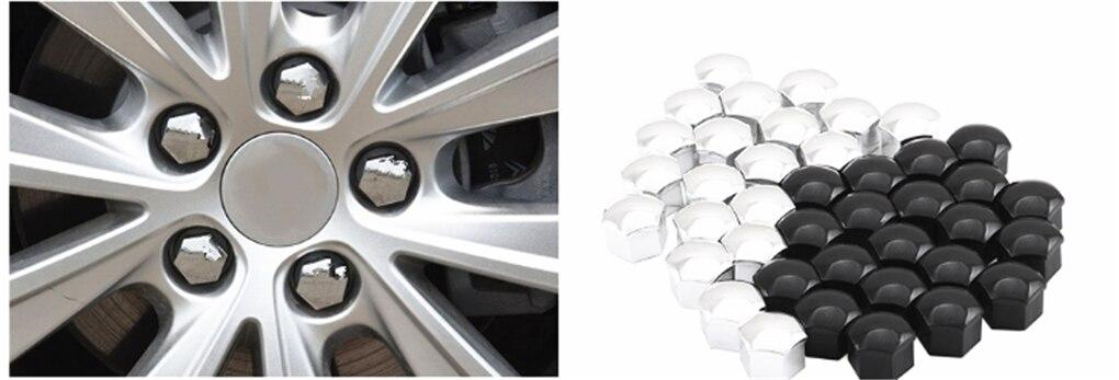 Silver BOLT Hex Alloy Metal Dust Valve Caps for Peugeot 108 208 308 3008 508 CC
