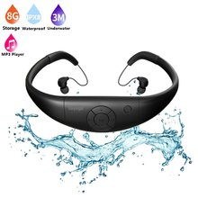 Tayogo IPX8 100% Waterproof Underwater Sport HIFI MP3 Music Player Bluetooth headphone with FM bluetooth Pedo Meter for Swimming(China)