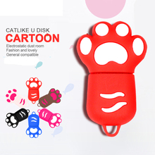 Hot sale pendrive Cartoon Cat claw 4GB 8GB 16GB 32GB 64GB usb flash drive stick Memory pen drives U Disk(China)