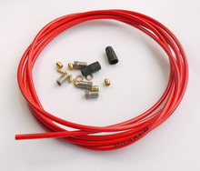 TEFLON KEVLAR HYDRAULIC DISC BRAKE HOSE KIT SUIT FOR AVID ELIXIR 1 3  RED 3 METERS