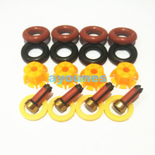 4pcs/set Fuel injector repair kits fuel injector filter oring plastic washer pintle cap fit for bmw car (AY-RK004)(China)