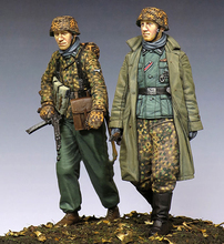 Unpainted Kit 1/35  WW2 German Arden Battle Party Soldier Walk  soldiers  figure Historical WWII Figure Resin  Kit Free Shipping
