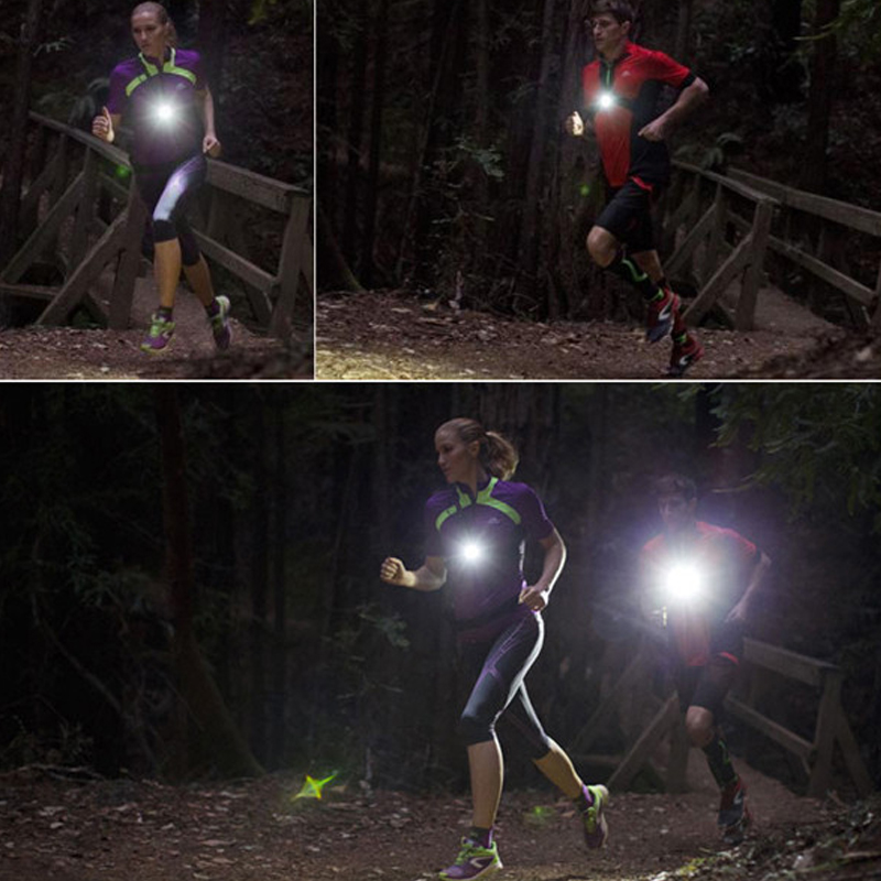 Outdoor Sports Running Lights XPE Q5 LED 3 Modes Headlight Night Running Flashlight Warning Lights USB Charger Chest Lamp Torch<br><br>Aliexpress