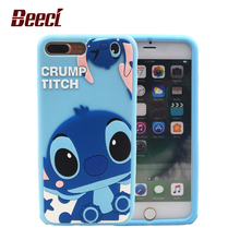 Beeci For iPhone 7 Case Soft Silicon Back Cover Shell Fundas For iPhone7 6 6s Plus 3D Cute Cartoon Stitch Cases Coque Cases WQ15