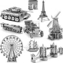Starz Mini DIY Metal Works Model 3D Toys Stainless Steel Building Kits Gifts Military,Construction,Ship,Car,Fighter
