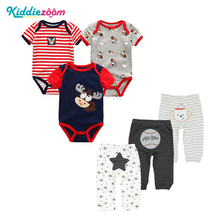 Buy 6PCS/LOT Newborn Baby Rompers+ Pants O-neck Baby Jumpsuit 100% Cotton Baby Girl Clothing Pants Ropa Bebe New Baby Clothes Sets for $17.66 in AliExpress store