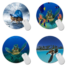 MaiYaCa Turtle Under Baseball Cap Gaming Mouse Mat Custom Round Mouse Pad 200mm*200mm