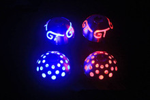 1piece metal+leather car LED Shift knobs Star or G--T patterns Red/BLUE lighting universal for all car makers DIY installation