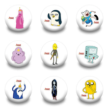 Kawaii 18pcs Adeventure Time With Finn And Jake Round Brooch  Pin Badges ,Can Be Used Anywhere you want to add some flair