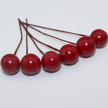 Free shipping wholesale 10mm XMAS RED Christmas Fruit for Christmas wreath xmas tree decoration 400pcs/lot