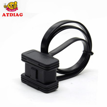 Wholesales price Flat+Thin As Noodle OBD 2 OBDII OBD2 16Pin Male to Female ELM327 Diagnostic Extension Cable Connector