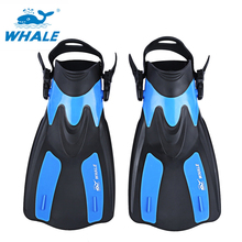 WHALE Hot Adult Snorkeling Diving Swimming Fins Trek for Professional Diver Swimming Foot Flipper Diving Fins 2 Sizes M XL(China)